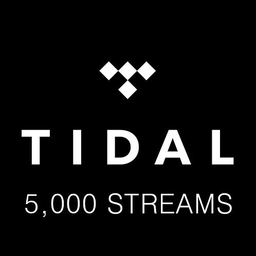5,000 Streams for Tidal