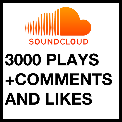 3000 Plays on SoundClound