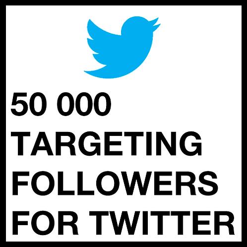 50 000 Twitter Followers