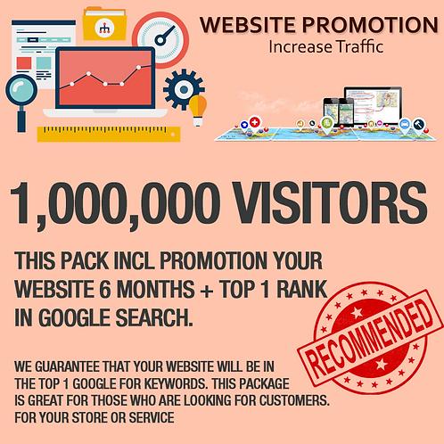1,000,000 Visitors on Website