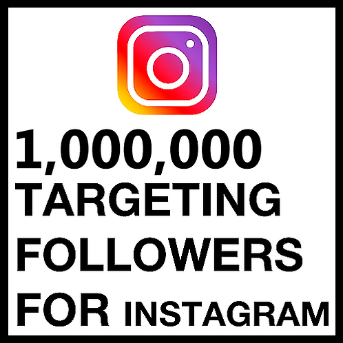 1,000,000 Instagram Followers March 2021