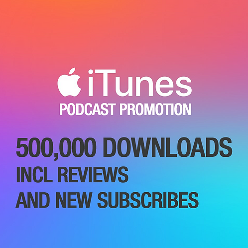 500,000 Downloads on iTunes Podcast