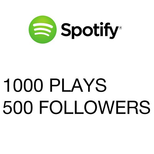 1000 Plays / 500 Followers for Spotify