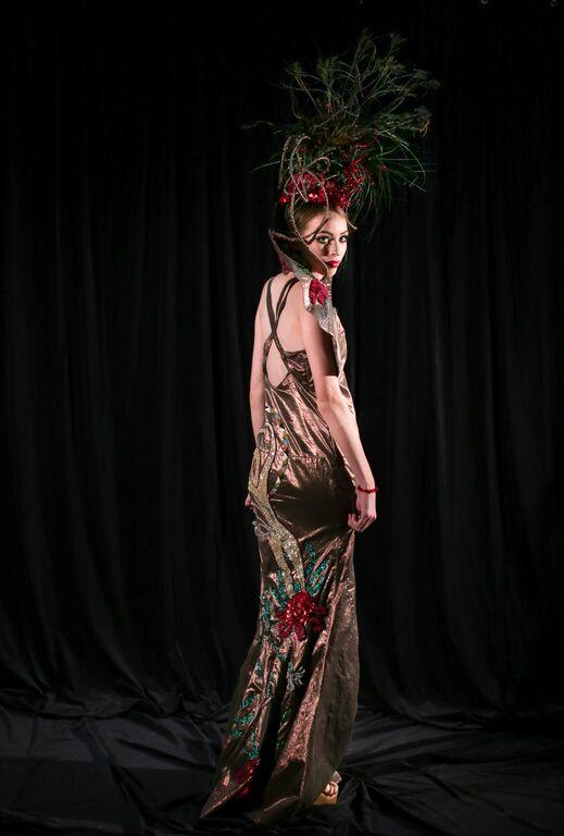 Frill Neck Lizard Gown