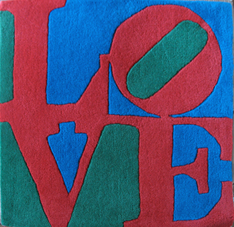 05 Robert INDIANA (1928) Love Tapisserie