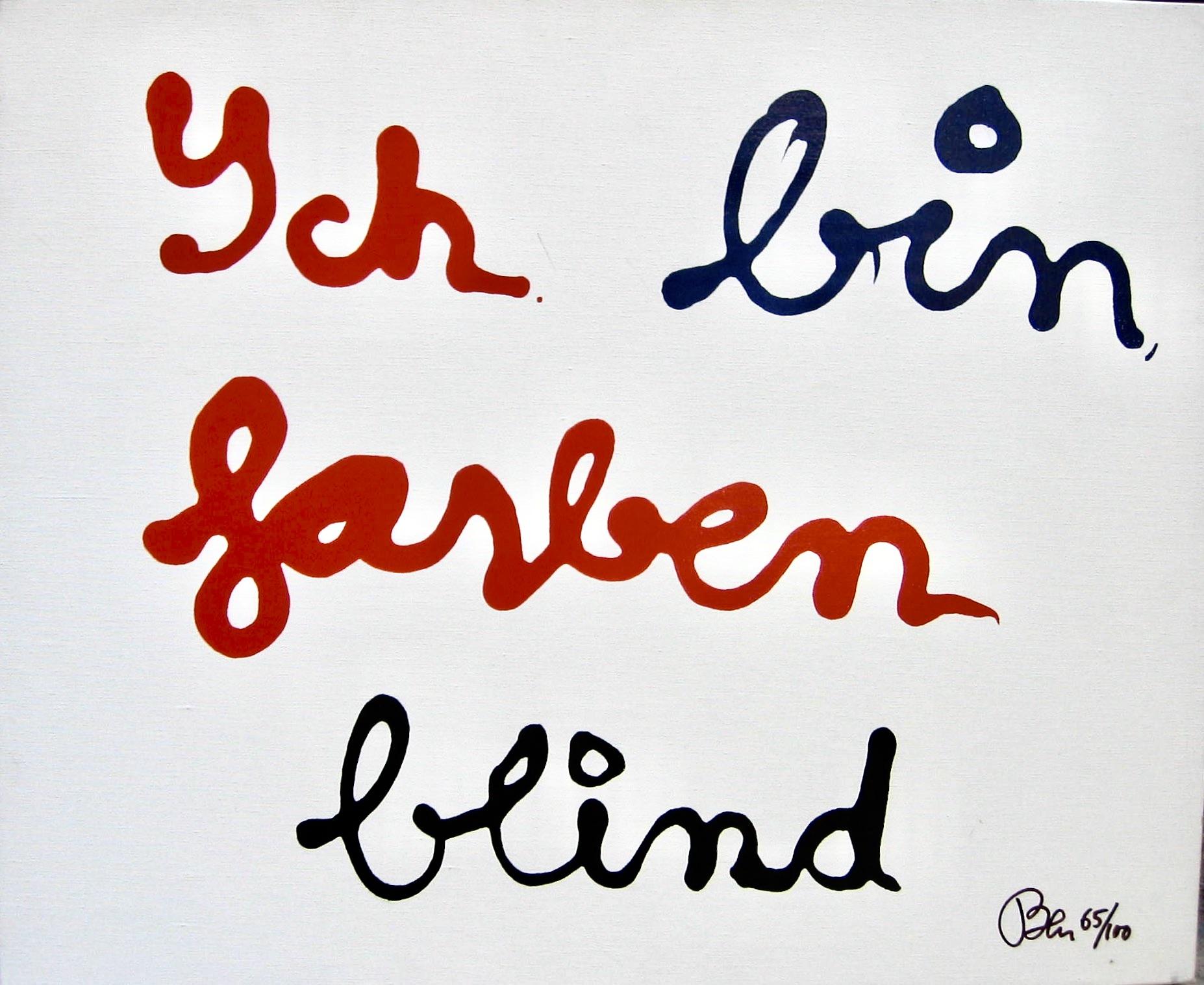 BEN ICH BIN FARBEN BLIND NO65_100 - DIM