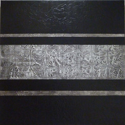 Lignes horizontales 80 x 80 cm