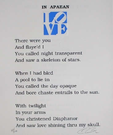 63__Robert_INDIANA_(1928)__Poem_IN_APAEA