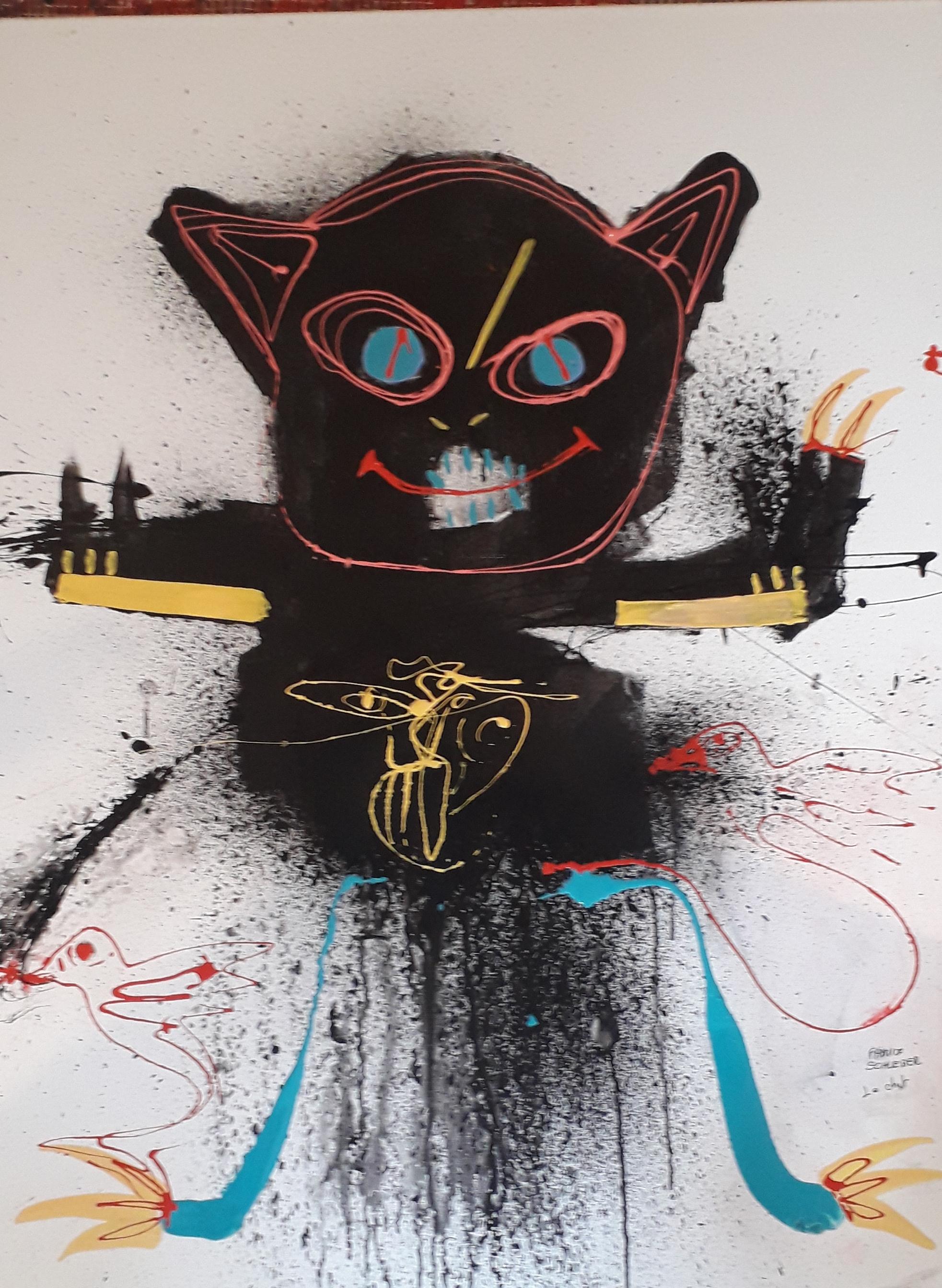 Le chat Boubou 116 x 89 cm