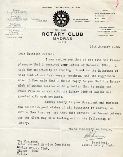 1932_1_12_From_Madras(British India)_To_