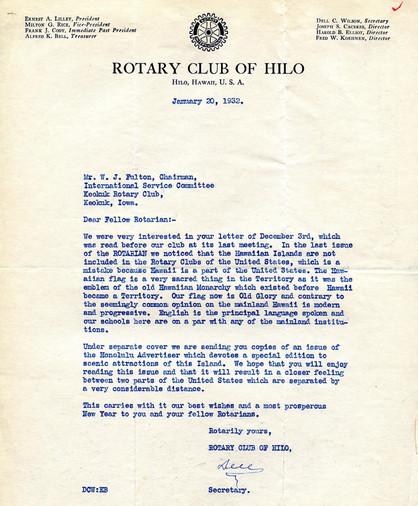 1932_1_20_From_Hilo(Hawaii)_To_Keokuk(US