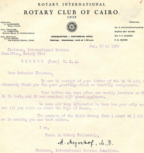 1932_1_22_From_Cairo(Egypt)_To_Keokuk(US