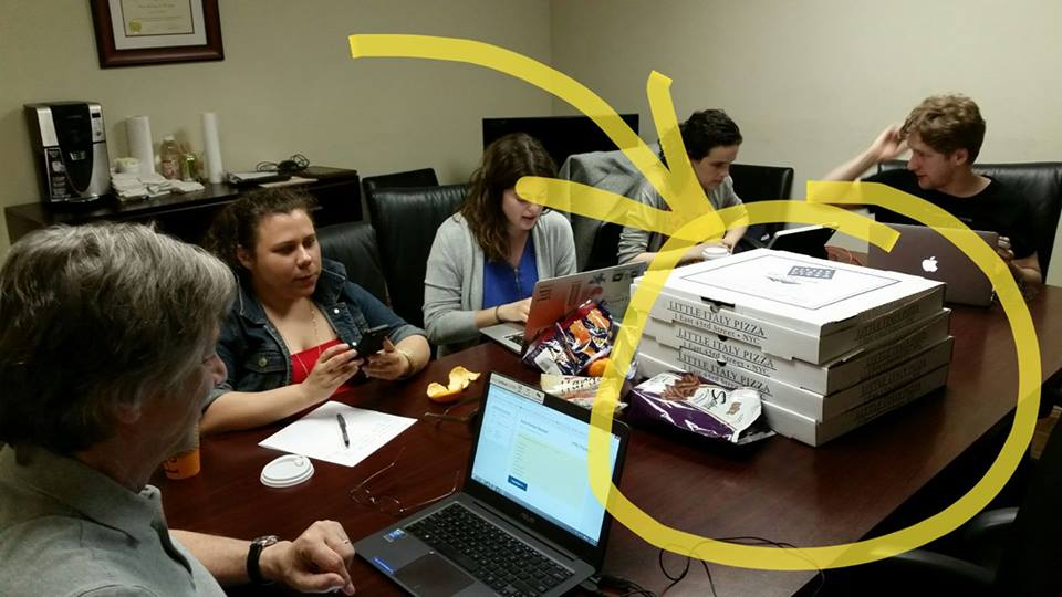 Phonebank with Pizza