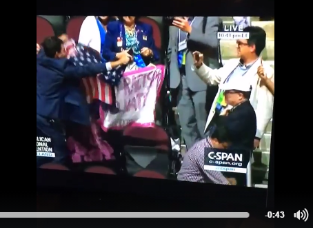 Republican Convention Covers Up Racism With Flag Waving (Literally)