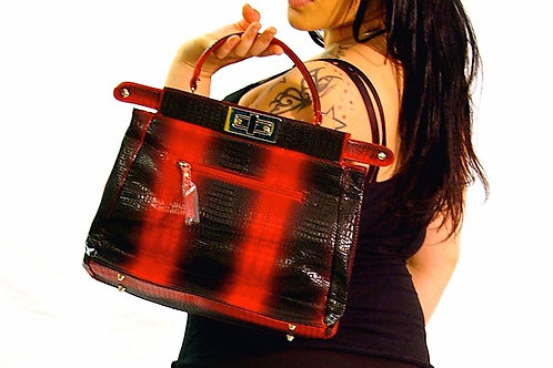 red and black fashion purse