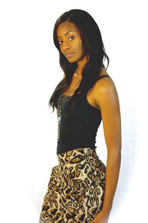 leopard/zebra pants with pockets