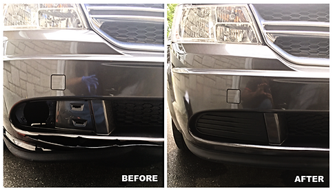 bumper repair before & after