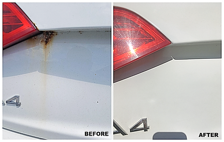 rust repair before & after