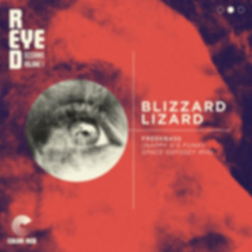 Freekbass - Blizzard Lizzard (Nappy G's Funk Space Odyssey Mix) - Color Red Remix - Artwork by Chris Ball