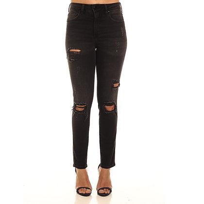 Calça Jeans Marisa 2 Cigarrete Preta