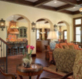 Living ad Dining separated by archways