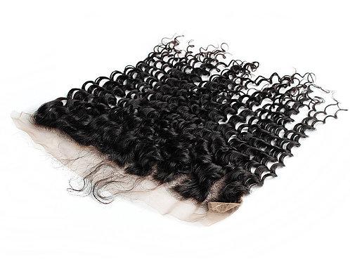 AngelHands Brazilian Deep Wave Lace Frontal 13x4 Virgin Human Hair