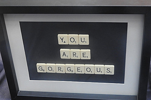 Vintage Scrabble Frame: You Are Gorgeous