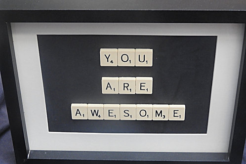 Vintage Scrabble Frame: You Are Awesome