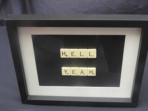 Vintage Scrabble Frame: Hell Yeah