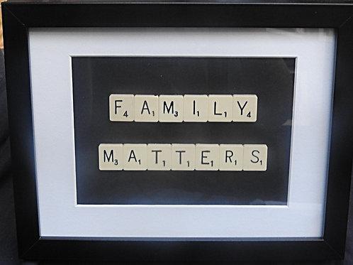 Vintage Scrabble Frame: Family Matters