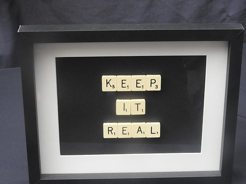 Vintage Scrabble Frame: Keep it Real