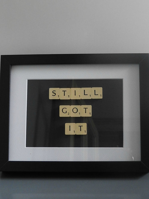 Vintage Scrabble Frame. Still Got It