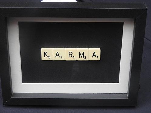 Small Vintage Scrabble Frame: Karma