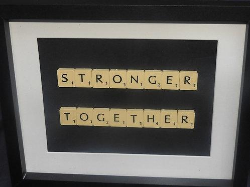 Vintage Scrabble Frame: Stronger Together