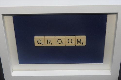 Small Vintage Scrabble Frame: Groom