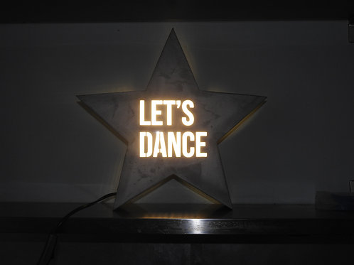 Vegas Metal Star Light Box - Lets Dance