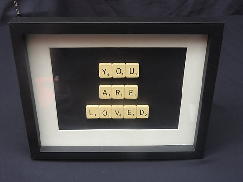 Vintage Scrabble Frame: You Are Loved