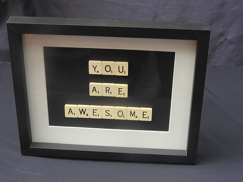 Vintage Scrabble Frames: You Are Awesome