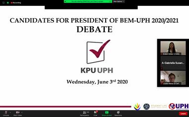 Debat Kedua Calon Ketua BEM-UPH 2020/2021