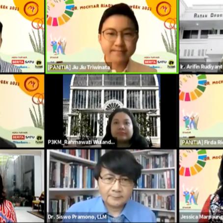 Seminar Hukum Nasional DMRLW 21 : SDGs Bringing Prosperity to Indonesia