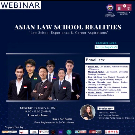 "Asian Law School Realities ""Law School Experience and Career Aspirations"""