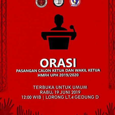 Orasi Membuka Pemilu Himpunan Mahasiswa Fakultas Hukum 2019/2020