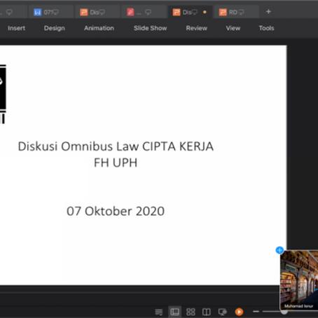 Ngobrol Mahasiswa 2020:  Polemik UU Cipta Kerja