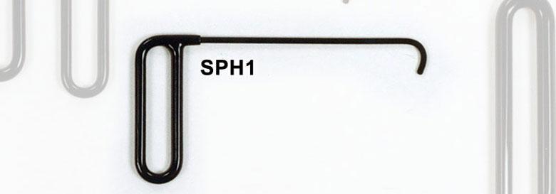 SPH1 - Side Panel Hook 1″ Curved Flag