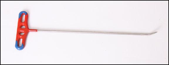 """FIN74 - 11"""" long 3/16"""" diameter 1"""" 45° sharp tip flag"""