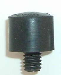 A36B - ULTRA Large Screw-On Black Rubber Softtip