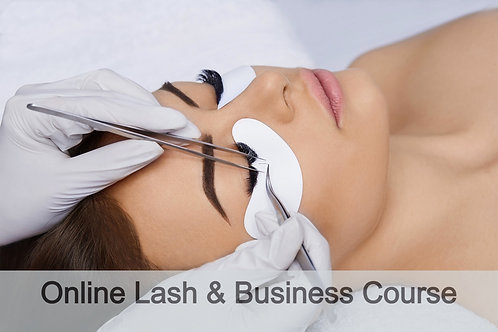 3 week Online Lash and Business Set up Course