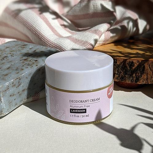 Organic Cream Deodorant - Lavender