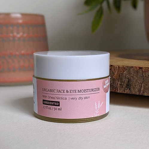 Organic Face & Eye Moisturizer - Unscented (Dry Skin)