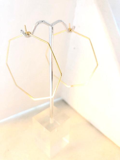 Jocelyn Kennedy Gold Octogon Hoops